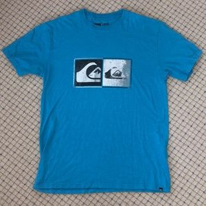 Quiksilver blue logo graphic t shirt